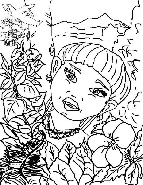 Taino Indians Coloring Sheet