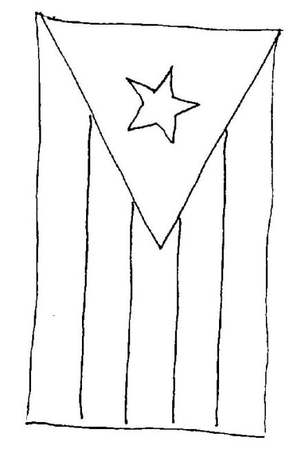 Puerto Rico Flag To Color